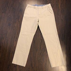 J crew Bowery pants Khaki chino classic 34X 32